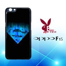 Casing OPPO F1s Custom Hardcase HP Fireblue Superman Logo L1890