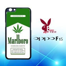 Casing OPPO F1s Custom Hardcase HP Marlboro Cannabis Marijuana Cigarettes L1842