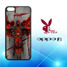 Casing OPPO F3 Custom Hardcase HP deadpool movie cartoon Z5130
