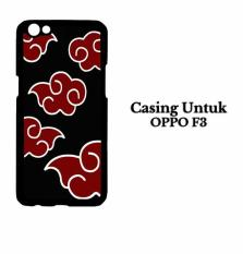 Casing OPPO F3 Naruto Akatsuki Cloud Emblem Hardcase Custom Case Cover