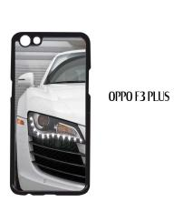 Casing Oppo F3 Plus White Audi r8 2 Custom Hardcase Cover