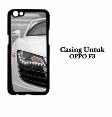 Casing OPPO F3 White Audi r8 2 Hardcase Custom Case Cover