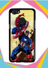 Casing OPPO F5 Custom Hardcase captain america vs spiderman Z0492 Case Cover