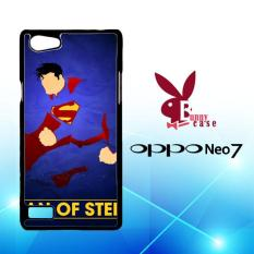 Casing OPPO Neo 7 Custom Hardcase HP Comic Book Nerdgasms Superman Hero L1399