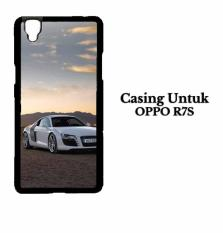 Casing OPPO R7S White Audi r8 Custom Hard Case Cover