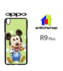 Casing Oppo R9 Plus mickey mouse images Custom Case Hardcase Cover