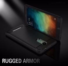 Casing Premium Quality Carbon Shockproof Hybrid Case for Xiaomi Redmi Note 3 / Note 3 Pro 5.5 Inch Versi Kenzo - Black + Gratis iRing