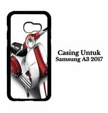 Casing SAMSUNG A3 2017 red and white vespa original Hardcase Custom Case Cover