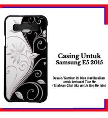 Casing Samsung E5 2015 Black design Custom Hardcase Cover