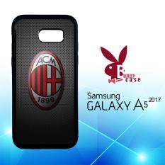 Casing Samsung Galaxy A5 2017 Custom Hardcase HP Ac Milan Carbon O1021