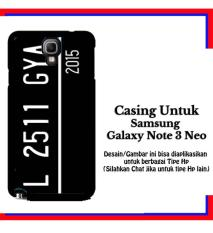 Casing Samsung Galaxy Note 3 Neo Custom Plat Custom Hardcase Cover