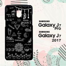 Casing Samsung J7 Pro | J7 2017 Custom Hardcase HP Black And White Quotes Pattern L0322
