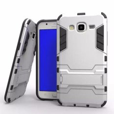 Casing TPU + PC Phone Case for Samsung Galaxy J3 2016 - Silver
