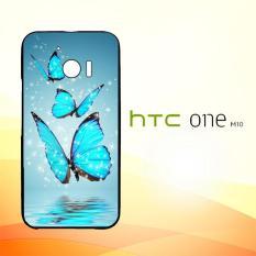 Casing Untuk HTC M10 Butterfly Wallpaper Pattern E1126