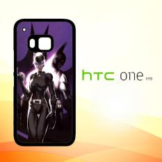 Casing Untuk HTC M9 Batman And Catwoman Couple Hero L1382