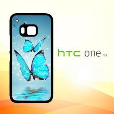 Casing Untuk HTC M9 Butterfly Wallpaper Pattern E1126