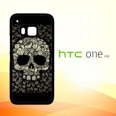 Casing Untuk HTC M9 Dead sugar skull flower pattern V0395
