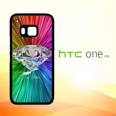 Casing Untuk HTC M9 Diamond Neon Line X0006