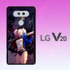 Casing Untuk LG V20 Harley Quinn And Joker Fan Art L1421