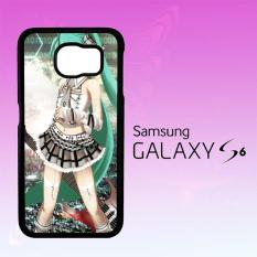 Casing Untuk Samsung Galaxy S6 Hatsune Miku Aqua  X1445