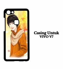Casing VIVO V7 Cartoon iPhone 7 Wallpaper 129 Custom Hard Case Cover