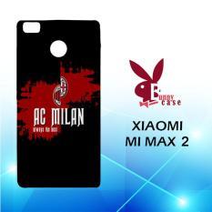 Casing Xiaomi Mi Max 2 Custom Hardcase HP Ac Milan line Flag E1748