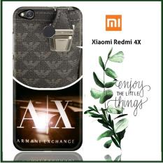 Casing Xiaomi Redmi 4X Custom Case Armani Exchange Logo X3308