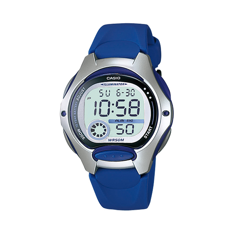 Casio Digital LW-200-2AV - Jam Tangan Wanita - Biru - Resin band