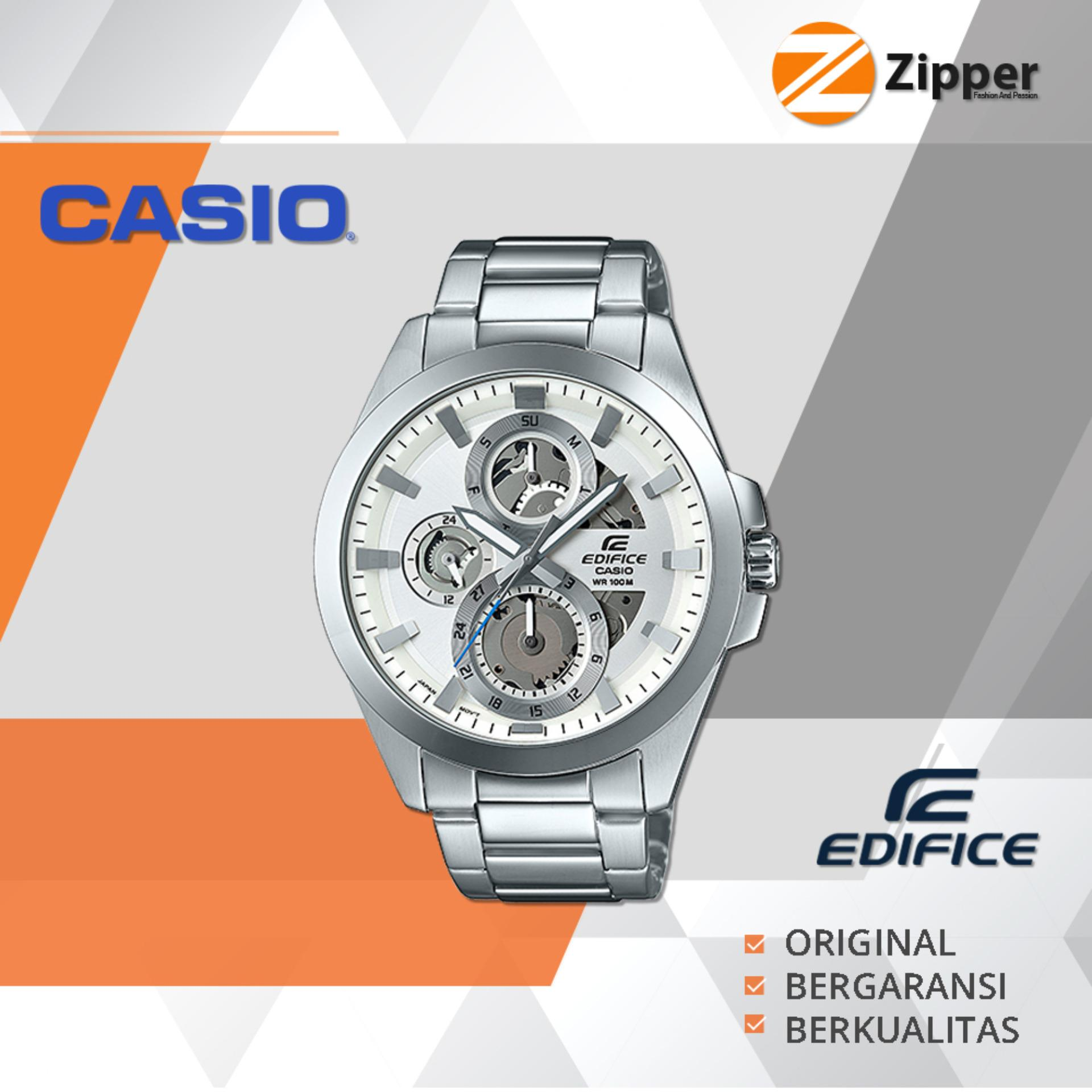 Casio Edifice Chronograph Jam Tangan Pria Analog Esk 300 Series Tali Stainless Steel Casio Edifice Diskon 40