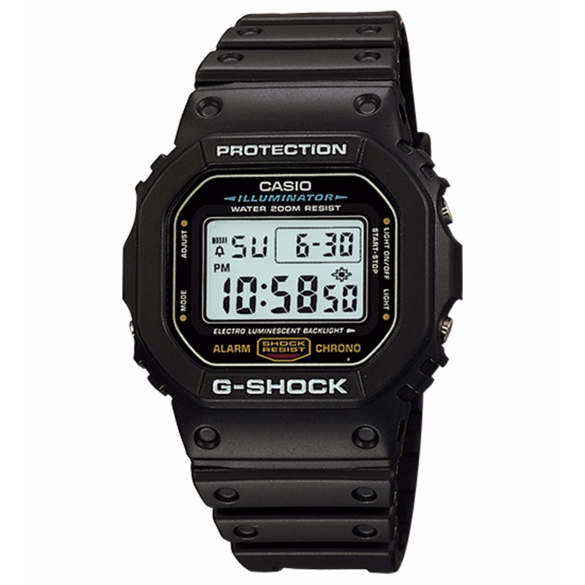 Diskon Casio G Shock Dw 5600E 1Dr Jam Tangan Pria Black Resin Band Casio G Shock