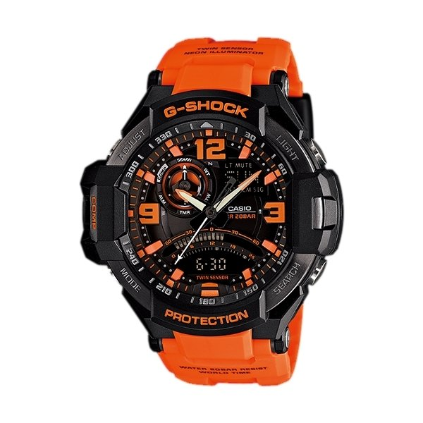 Dapatkan Segera Casio Jam Tangan Pria G Shock Ga 1000 4Adr Hitam Orange