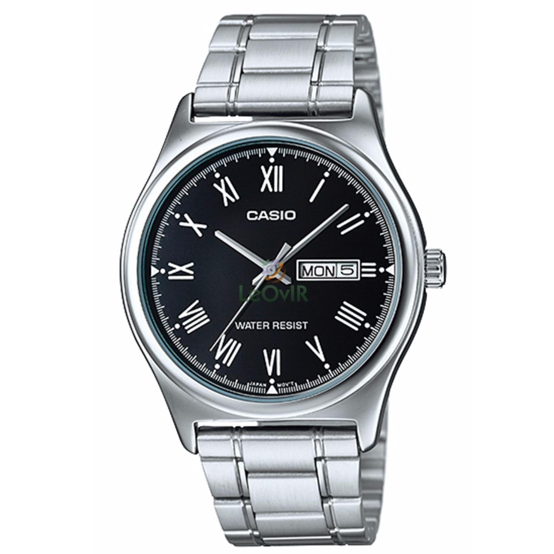 Jual Casio Standard Mtp V006D 1B Jam Tangan Pria Silver Black Strap Stainless Steel Lm Online Indonesia