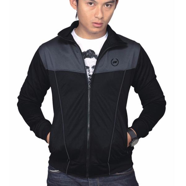 Review Toko Catenzo Jaket Pria Casual Sporty Hitam
