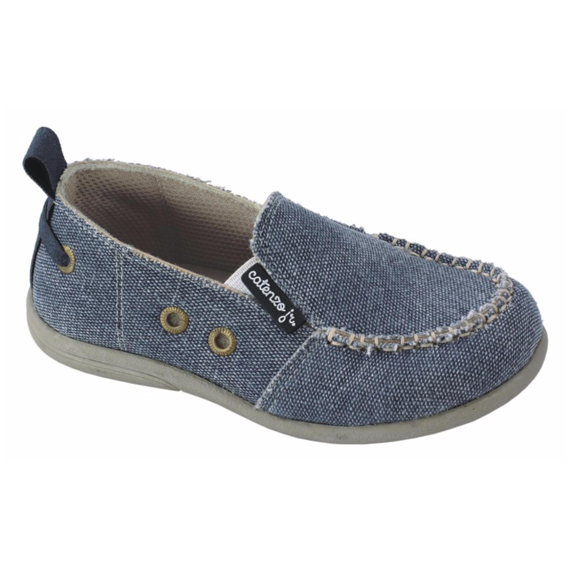 Cuci Gudang Catenzo Junior Sepatu Casual Denim Slip On Anak Laki Laki Catenzo Junior Cad 006