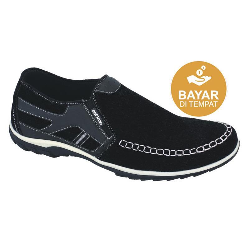 Catenzo Sepatu Casual Semi Formal Pria AT086 - Hitam