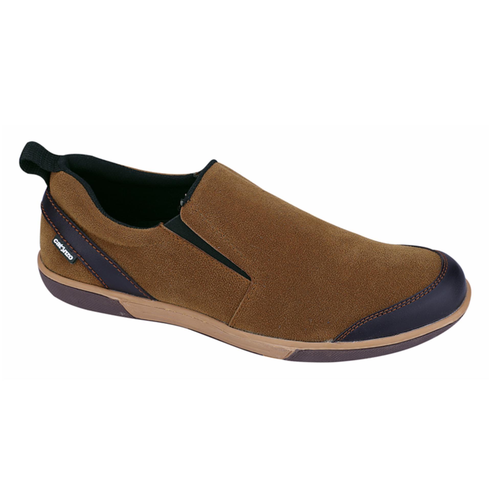 Catenzo Sepatu Slip On Pria Cooper NT 041 - Tan