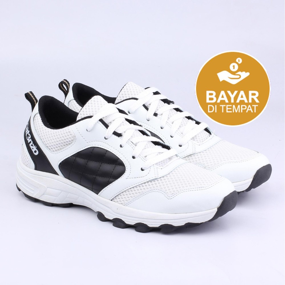 Catenzo Sport Shoes - Sepatu Lari Pria TF 138 - Black White