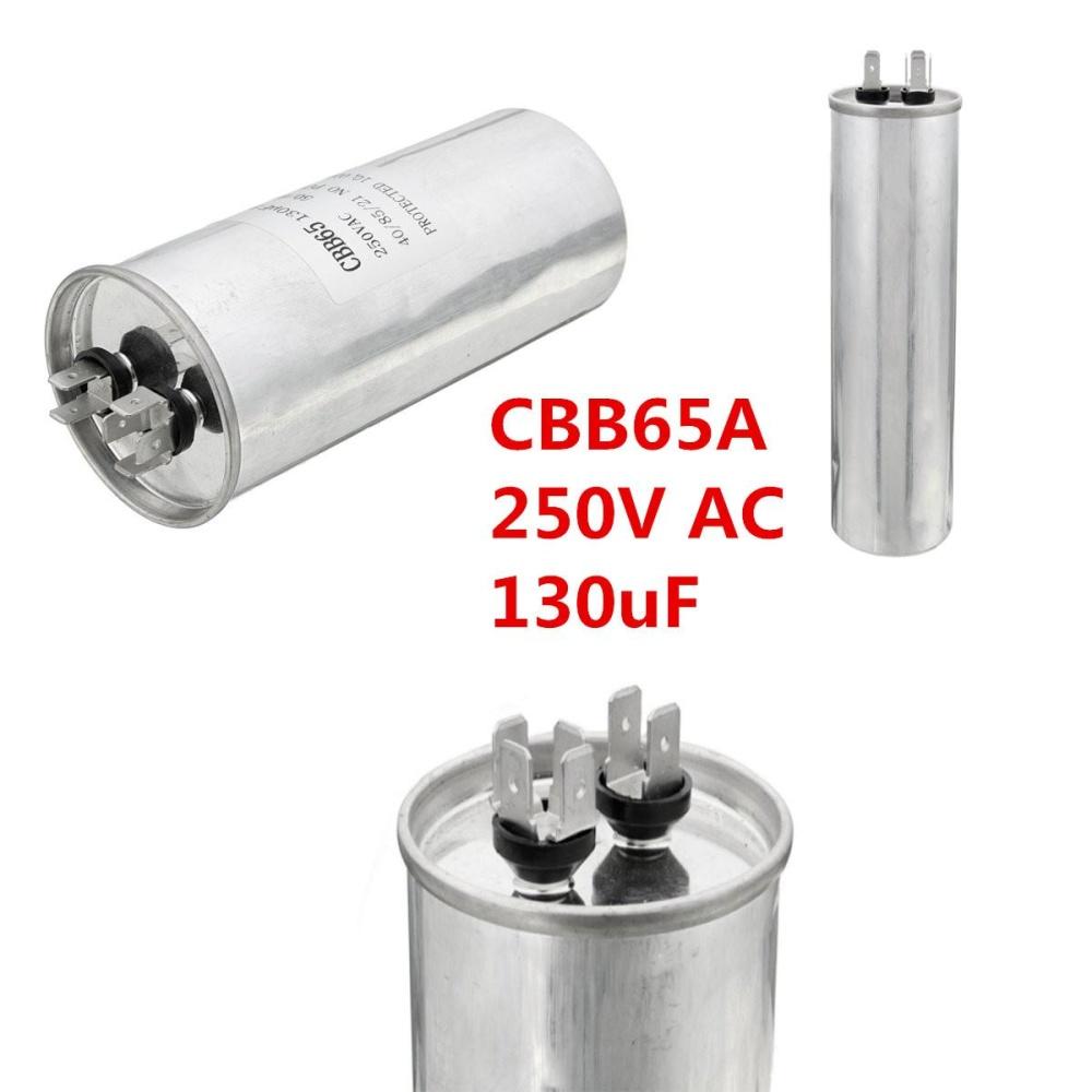 CBB65A Air Motor Running Pengkondisian Starting Capacitor 250 V AC 130 UF 50/60Hz-Intl