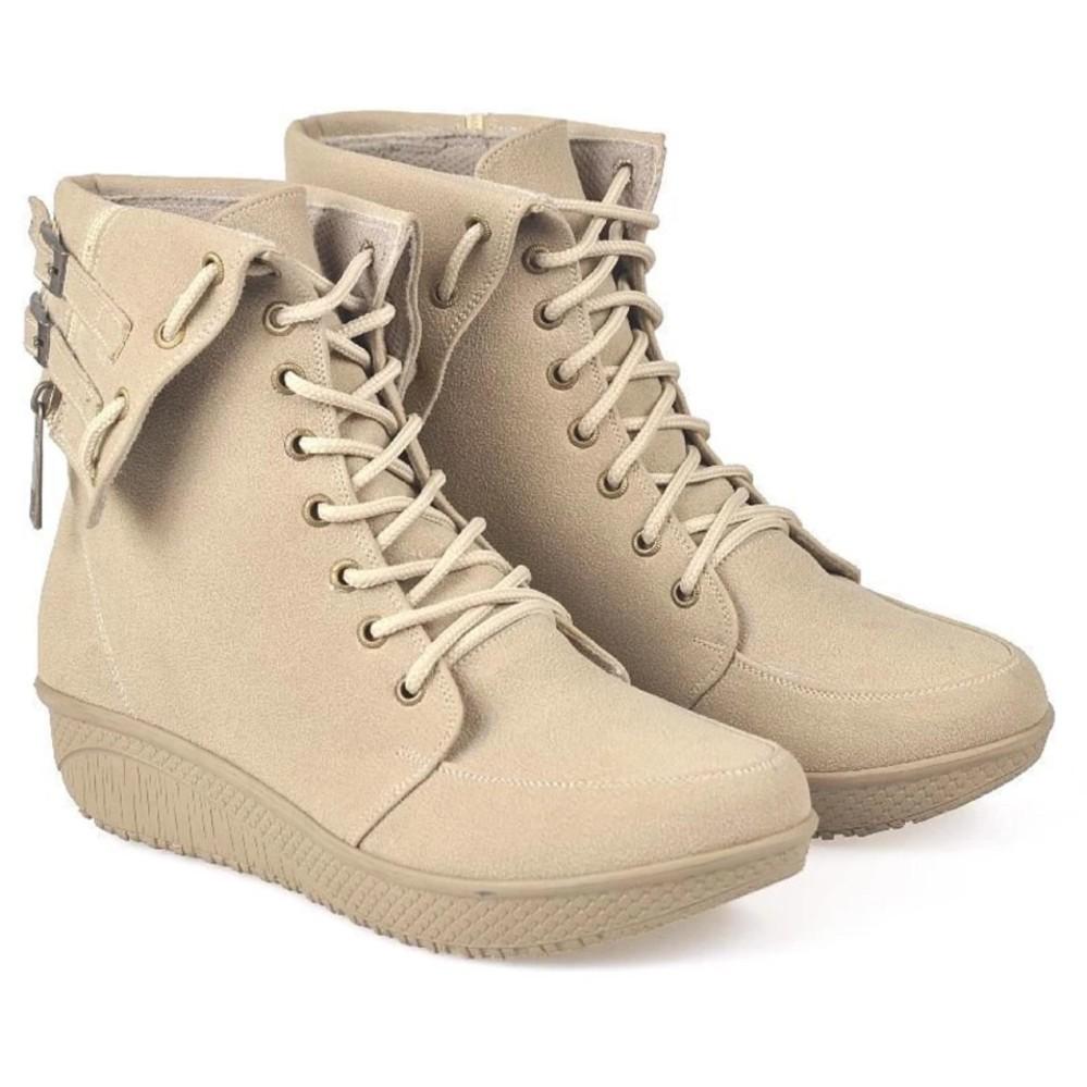 Jual Beli Cbr Six Bcc 885 Sepatu Fashion Boot Wanita Cream Baru Jawa Barat