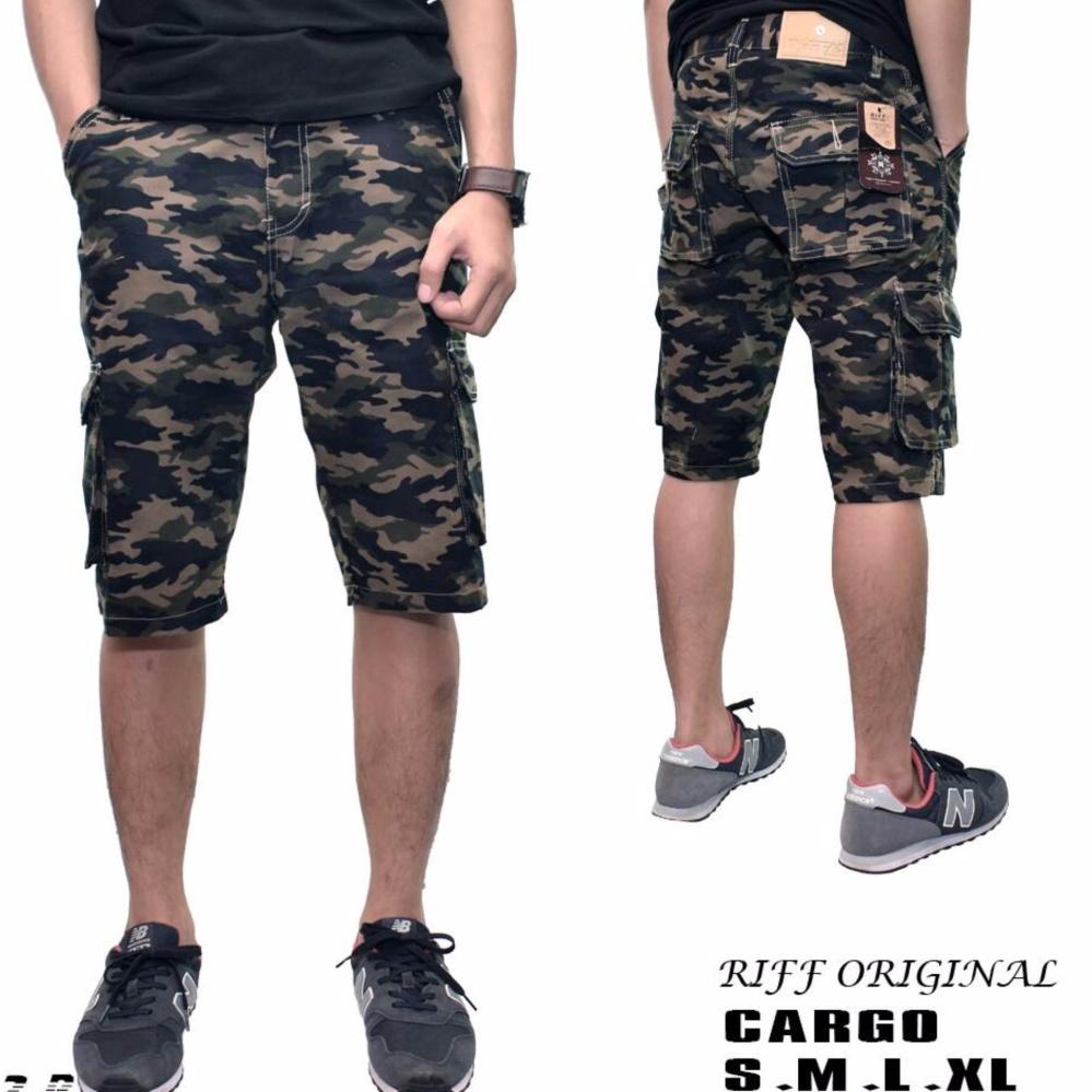 Celana cargo pendek Army/ Riff/keren berkualitas premium/loreng army