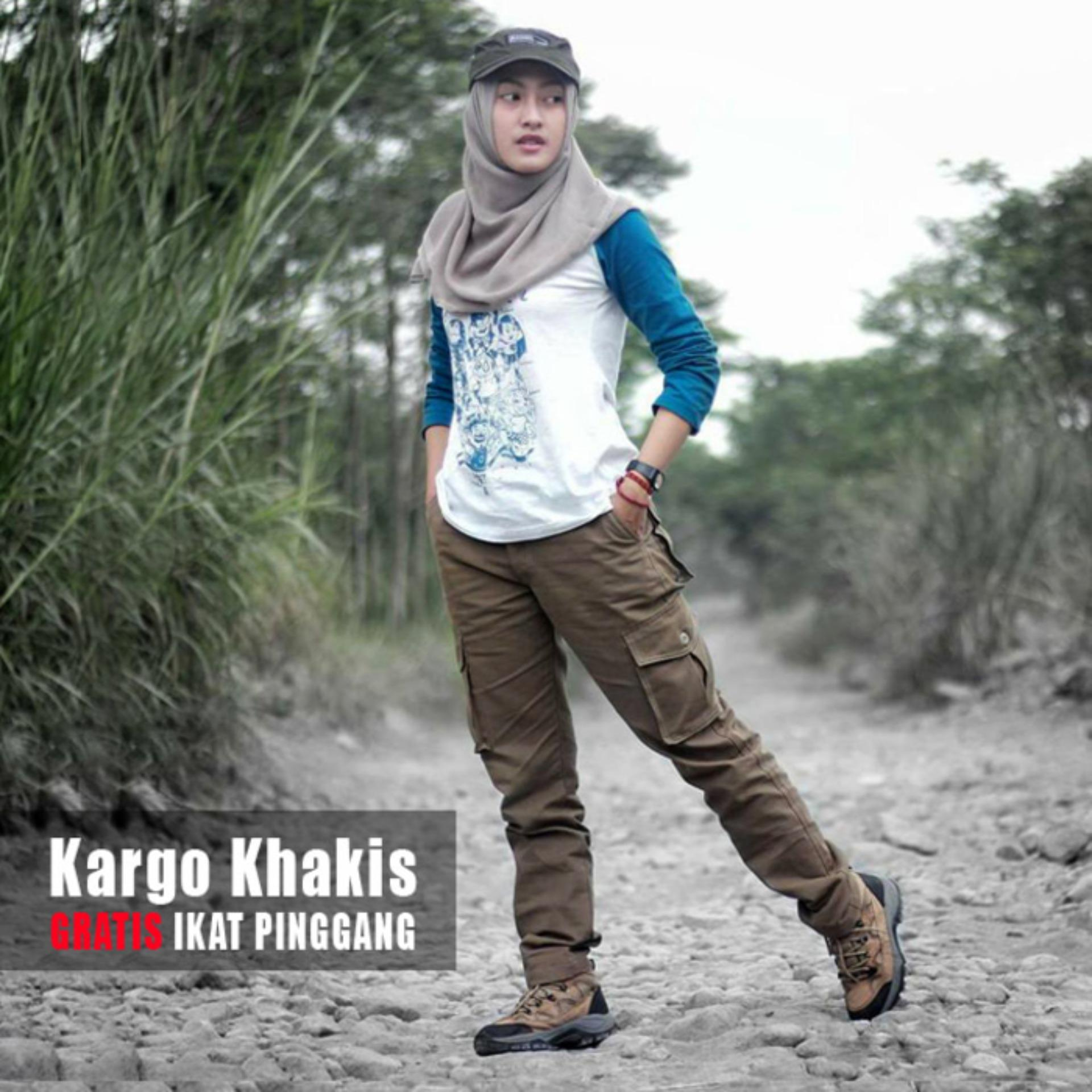 Celana Cargo Wanita Warna Khakis Celana Gunung Wanita Celana Pdl Cewe Celana Lapangan Diskon Jawa Barat