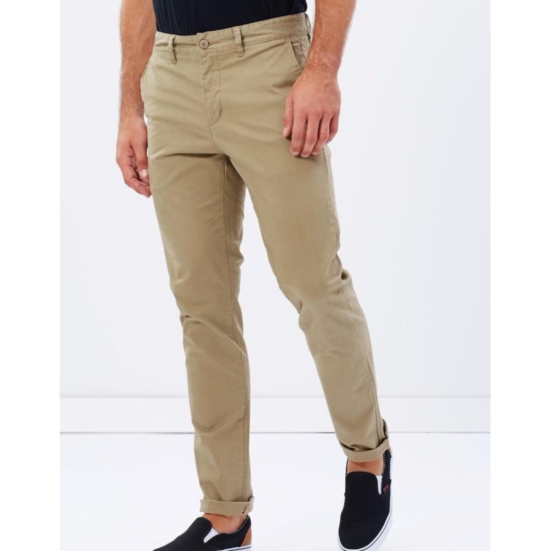 Celana Chino Katun Panjang Pria