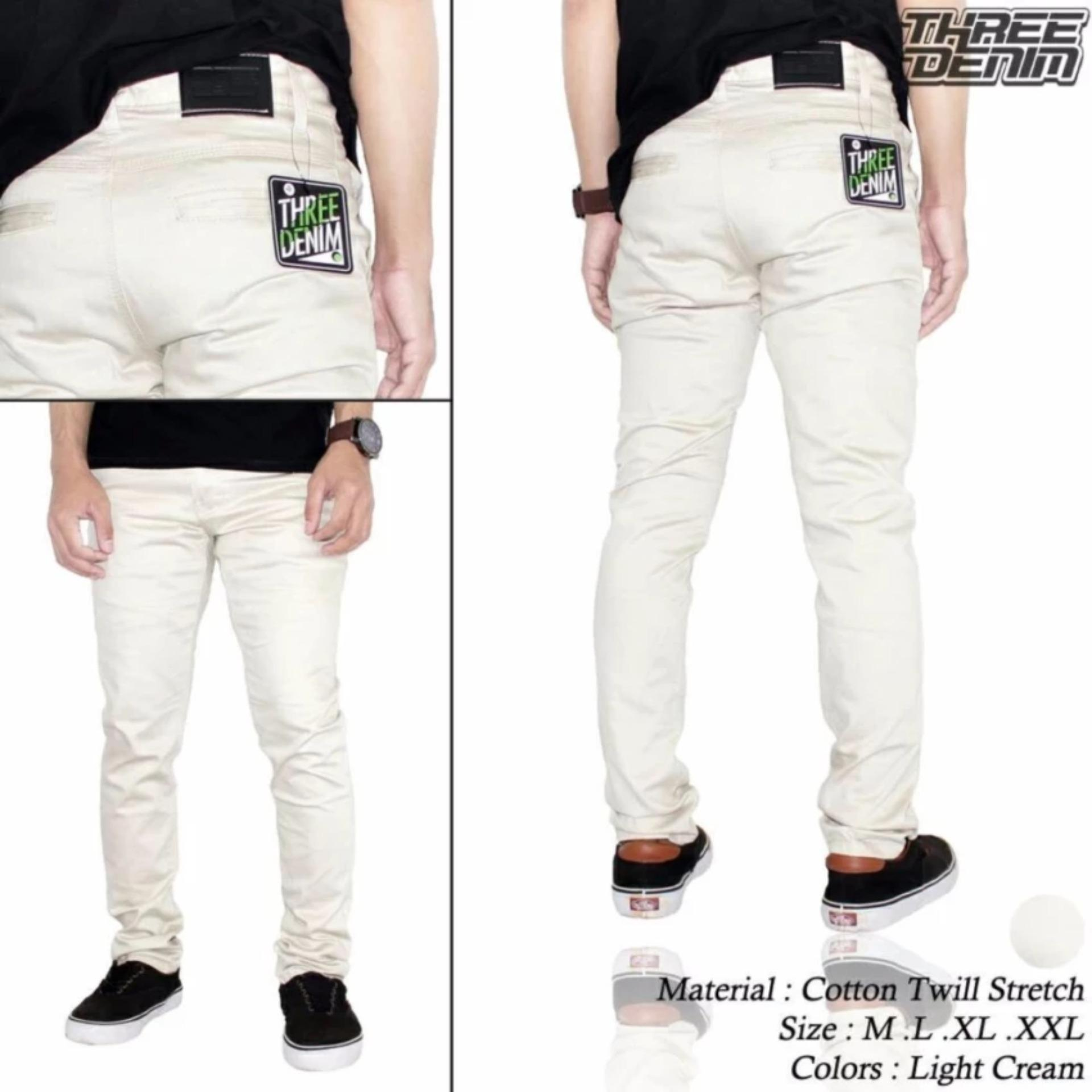 Promo Celana Chino Panjang Cream Ds