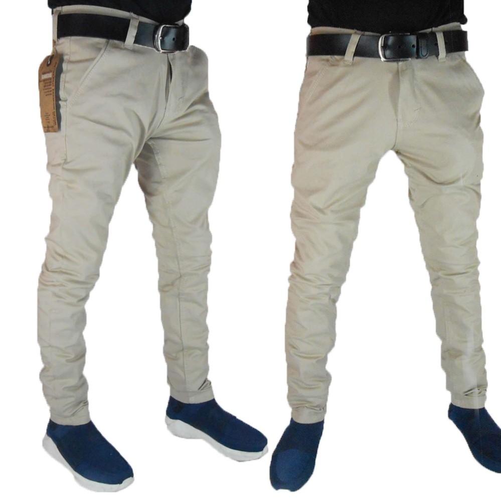 Celana Chino Formal Kasual Pria Panjang Jeans Street