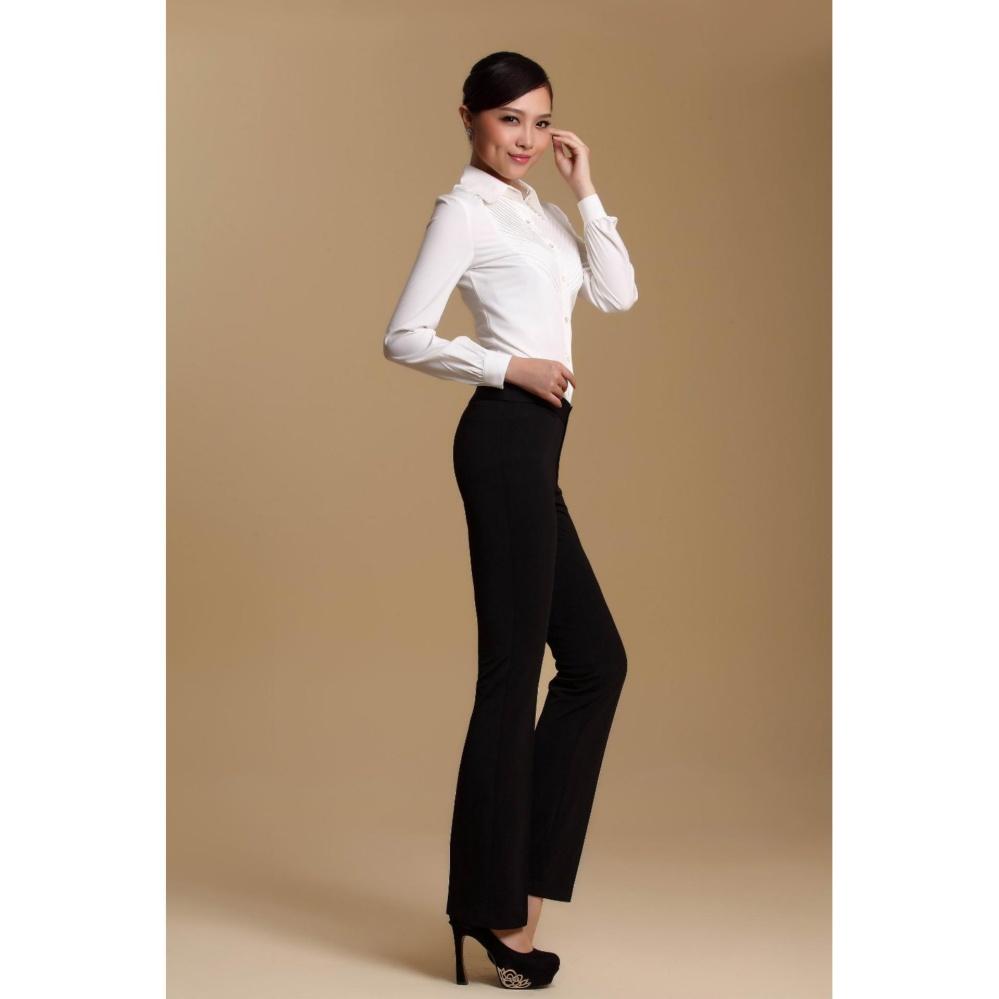 Beli Celana Formal Kerja Wanita Slim Fit Hitam Black Chino