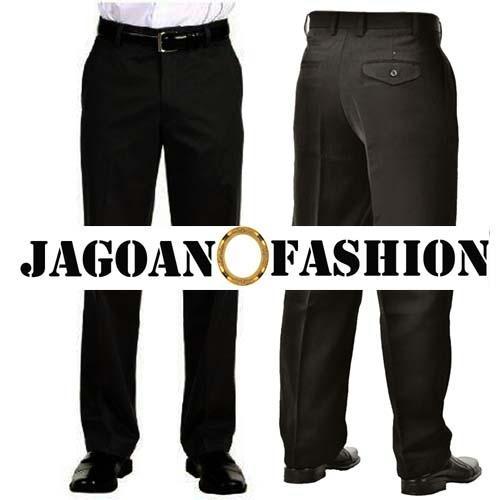 Celana Formal Panjang Pria Warna Hitam Model Reguler Standard Polos