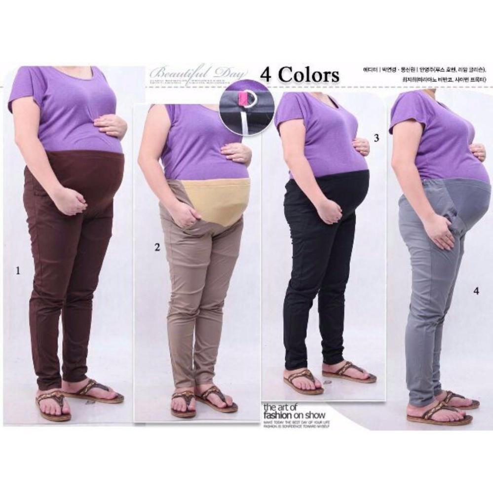 Celana hamil panjang long pant Rindy - coklat