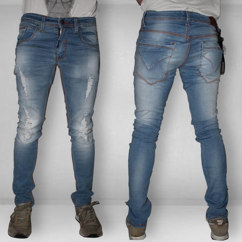 Celana Jeans - Red Seven Fit Skinny Stretch Ripped/Sobek Terbaik & Branded