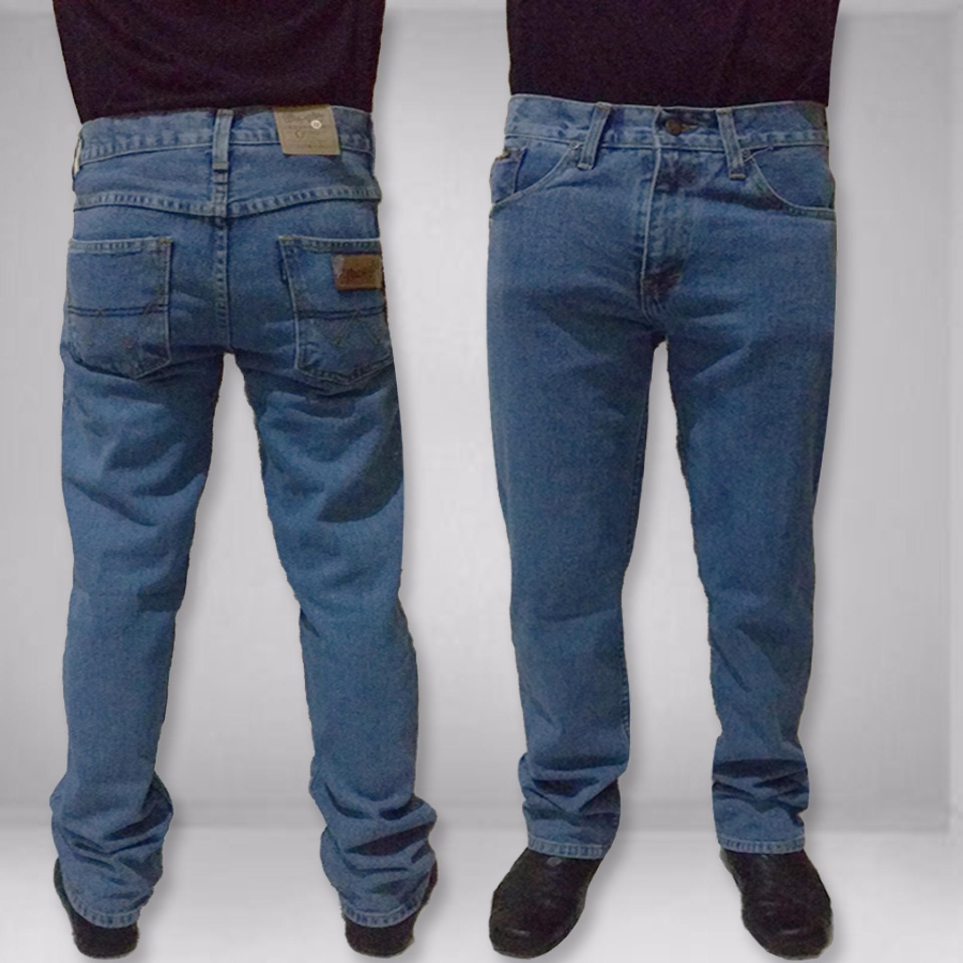 Beli Celana Jeans Wrangler Fit Standar Big Size S To Xxxl Online Dki Jakarta