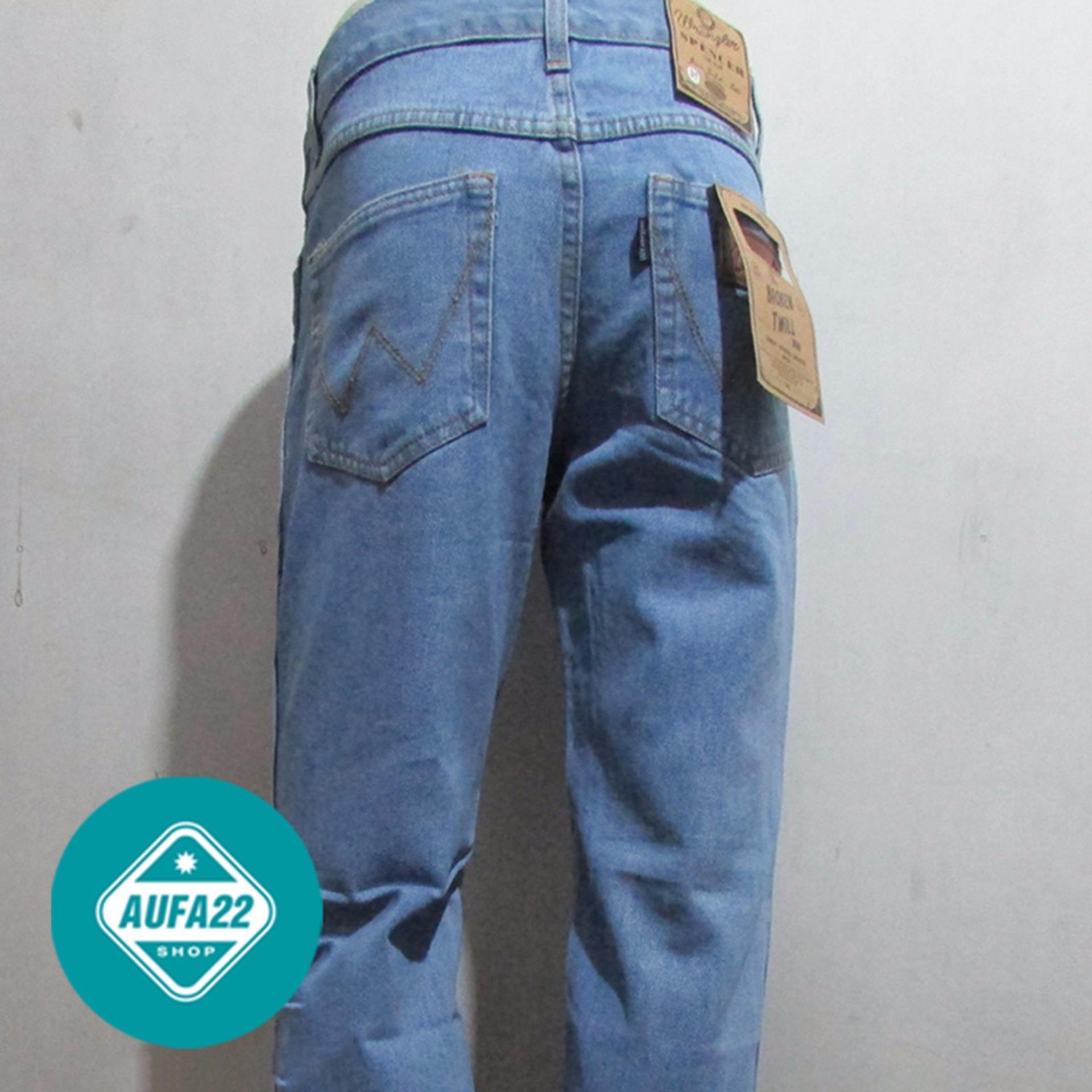 Celana Jeans WRANGLER Bioblitz-Biru Muda Original Regular Standar Promo Murah